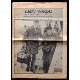 Diari Mortal. Founded Aº D 1728 by Andreu enTerrad Es.