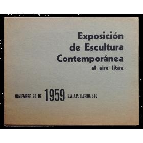 Exposición de Escultura Contemporánea al aire libre. S.A.A.P, Buenos Aires, 20 de noviembre de 1959