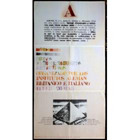 Nuevos Comportamientos Artísticos. Organizado por los Institutos Alemán, Británico e Italiano, 11 feb. - 26 mar.