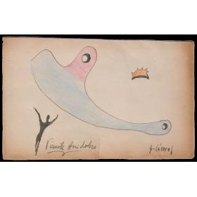 Dibujo original - Jorge Cáceres, Vicente Huidobro