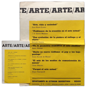 Arte. Departamento de Extensión Universitaria, Rosario, 14 de octubre, [1966]