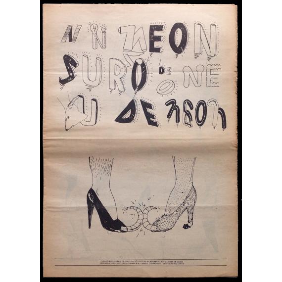 Neon de Suro. Fullet monogràfic de divulgació. Autor: Bartomeu Cabot, Cadires de cabra. Desembre 1980