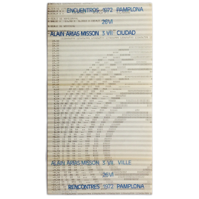 Alain Arias Misson. Encuentros Pamplona 1972, Ciudad, 26 VI - 3 VII, 1972