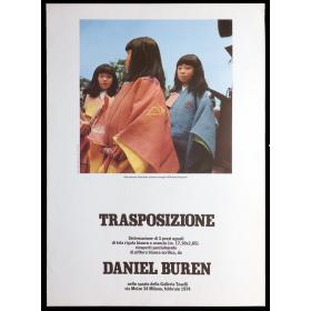 Trasposizione - Daniel Buren. Galleria Toselli, Milano, febbraio 1974