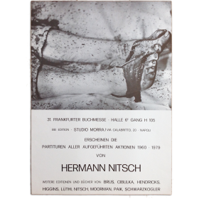 31. Frankfurter Buchmesse - Studio Morra, Napoli, Partituren Aller Aufgeführten Aktionen 1960-1979 von Hermann Nitsh