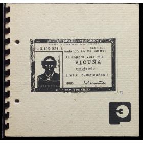 """Vicuña - Últimos objetos. Galería de arte """"Plástica 3"""", Santiago de Chile, Octubre 1983"""