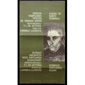 """Orfeón Pamplonés - """"Oficios de Semana Santa"""" (Responsorios) T. L. de Victoria. Encuentros Pamplona, 1-VII, 1972"""