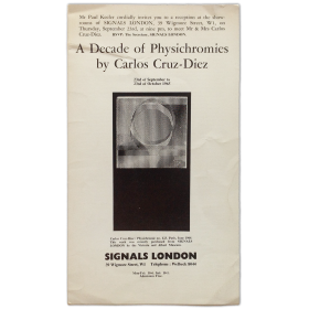 A Decade of Physichromies by Carlos Cruz-Diez. Signals London, september to October 1965,