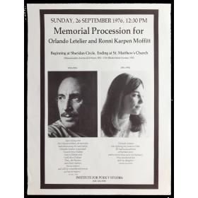 Memorial Procession for Orlando Letelier and Ronni Karpen Moffitt