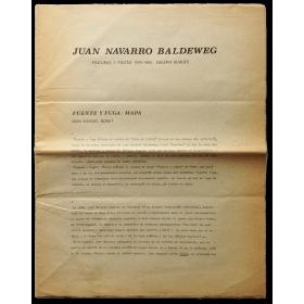 Juan Navarro Baldeweg - Pinturas y piezas 1979-1980. Galería Buades, Madrid, mayo 1980
