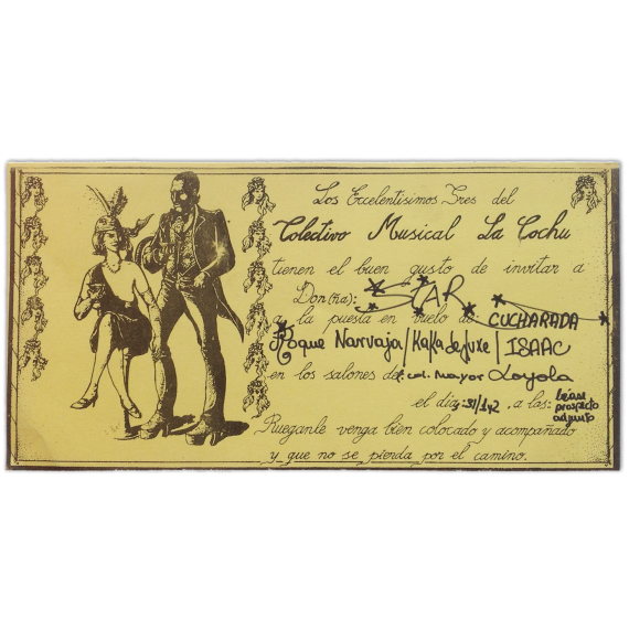 Colectivo Musical La Cochu - Cucharada, Roque Narvaja, Kaka de Luxe, Isaac. Colegio Mayor Loyola, [Madrid, 1978]
