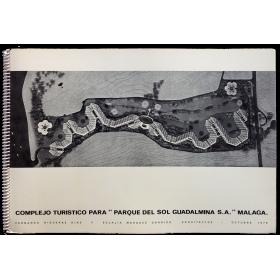 """Complejo turístico para """"Parque del Sol Guadalmina S.A."""", Málaga. Fernando Higueras y Eulalia Marques Arquitectos - Octubre 1978"""