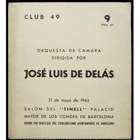 """Orquesta de Cámara dirigida por José Luis de Delás. Salón del """"Tinell"""", Barcelona, 21 de mayo de 1965"""