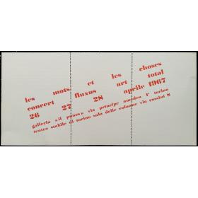 "Les Mots et les Choses. Concert fluxus art total. Galleria ""Il Punto"" Torino – Teatro Stabile di Torino, 26, 27, 28 aprile 1967"