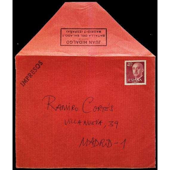 Sobre postal Juan Hidalgo - Ramiro Cortés