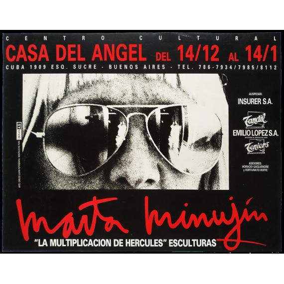"""Marta Minujín - """"La Multiplicación de Hércules"""", Esculturas. Centro Cultural Casa del Ángel, Buenos Aires, Dic. 1989-Enero 1990"""