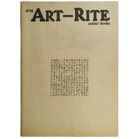Art-Rite, No. 14 (Winter 1976-77) Artists' Books