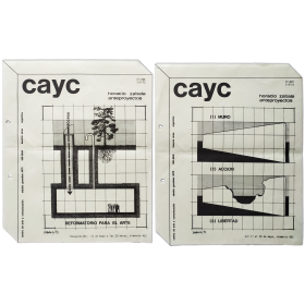 Horacio Zabala - Anteproyectos. CAyC, Centro de Arte y Comunicación, Buenos Aires, 1973