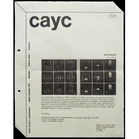 CAyC - Sol Lewitt en La Plata. Centro Cultural Platense, La Plata (Argentina), del 4 al 30 de Mayo de 1973
