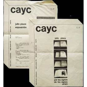 Julio Plaza Exposición. CAyC Centro de Arte y Comunicación, Buenos Aires, Julio de 1975