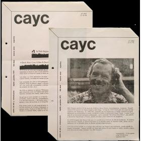 Dick Higgins. CAyC Centro de Arte y Comunicación, Buenos Aries, agosto 1974