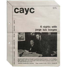 6 nights with Jorge Luis Borges. The School of High Studies of CAyC, Buenos Aires, September-October 1974