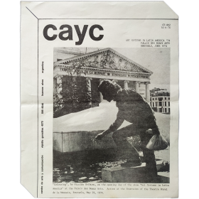 CAyC - Art Systems in Latin America '74. Palais des Beaux Arts, Brussels, June 1974