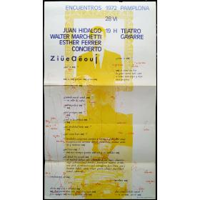 Juan Hidalgo, Walter Marchetti, Esther Ferrer - Concierto. Encuentros Pamplona, Teatro Gayarre, 28 VI, 1972