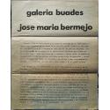 José María Bermejo. Galería Buades, Madrid, abril 1980