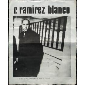 """R. Ramírez Blanco - """"Textos, Ilustraciones y Grafismos"""". Galería Buades, Madrid, octubre 1974"""