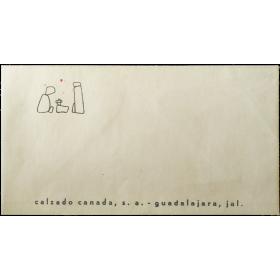 Sobre postal con diseño de Mathias Goeritz