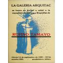 Rufino Tamayo. Galería Arquitac, Guadalajara, México, septiembre de 1951
