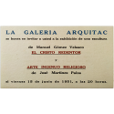 Manuel Gómez Velasco - José Martínez Palos. Galería Arquitac, Guadalajara, México, del 15 al 20 de junio de 1951
