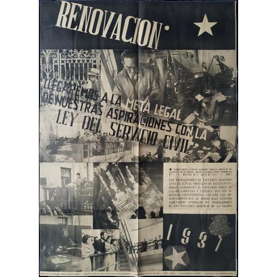 "Suplemento mural a la revista ""Renovación"". Nº 1 - México D.F. Julio de 1937 - Año I"