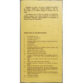 """[""""Exámen""""] - Valcárcel Medina. Galería Seiquer, [Madrid], marzo [1975]"""