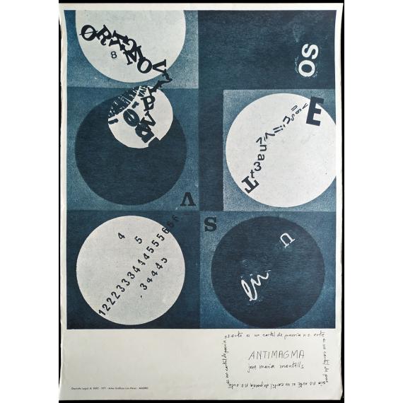 Antimagma - José María Montells. Este es un cartel de poesia n. o.