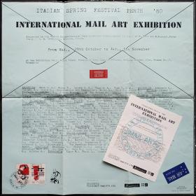 Italian Spring Festival Perth '80. International Mail Art Exhibition. Exhibition Hall, Fremantle, Perth, Oct. - Nov. 1980