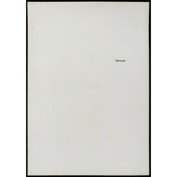 Genovés Galería Vandrés, Madrid, del 10 de Abril al 12 de Mayo de 1973