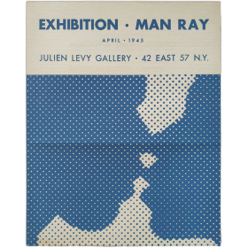 Exhibition Man Ray - Objects of My Affection. Julien Levy Gallery, New York, april 1945