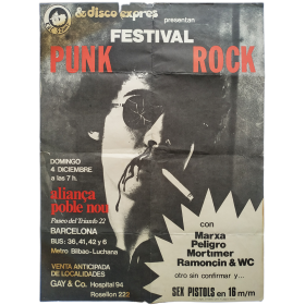 Festival Punk Rock. Aliança Poble Nou, Barcelona, 4 diciembre 1977