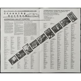 Crossing Borders - International mailart exhibition. Irvine Fine Arts Center, December 5, 1992 - February 7, 1993