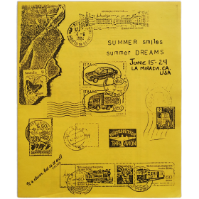 "Mail Art '84 - ""Summer Smiles / Summer Dreams"". Artists Village, La Mirada Arts Festival, CA, U.S.A., June 15-24, 1984"