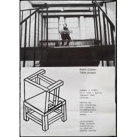 Rubber Vol. 4, Nr. 1, jan.-april 1981. Robin Crozier: Table-project