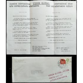 VISIÓN GLOBAL. Muestra Internacional arte correo/Cultura alternativa. Ciudad de México, noviembre de 1982