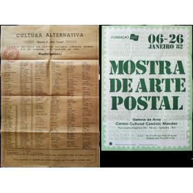 Cultura Alternativa - Mostra de Arte Postal. Centro Cultural Cândido Mendes, Rio de Janeiro, 6-26 janeiro de 1982