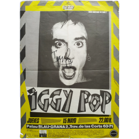 Iggy Pop. Palau Blaugrana, Barcelona, jueves 15 de mayo de 1980