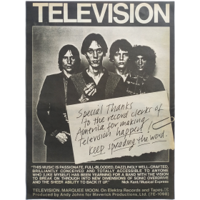 Television - Marquee Moon. Billboard, april 16, 1977