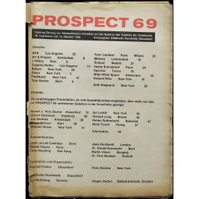 Prospect 69. Katalog-Zeitung zur Internationalen Vorschau auf die Kunst in den Galerien der Avantgarde