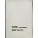 Exposición homenaje a Manolo Millares. Galería Juana Mordó, Madrid, Enero 1973