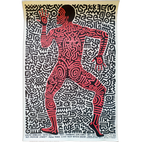"""Keith Haring: Into 84..."". Tony Shafrazi Gallery, New York, Dec. 3 - Jan. 7, 1984"